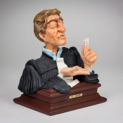 """Detail afbeelding """"THE EVIDENCE"""" (Lawyer bust)"""
